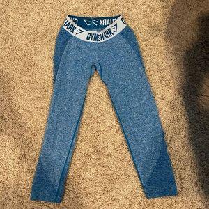 Turquoise Gymshark Flex leggings